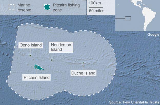Budget Pitcairn Islands Get Huge Marine Reserve BBC News - Ascension island google map