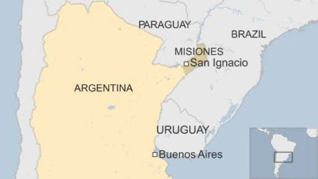 Argentine Archaeologists Probe Nazi Hideout For Clues BBC News - Argentina misiones map
