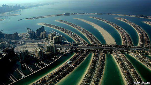 The exclusive Palm Jumeirah resort in Dubai