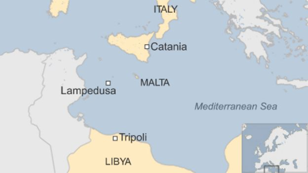 Mediterranean migrants hundreds feared dead after boat capsizes map sciox Choice Image