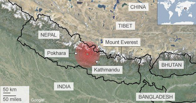 Nepal earthquake: Hundreds die, many feared trapped - BBC News
