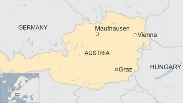 Austrian city faces hidden horrors of nazi camp bbc news map of graz in austria sciox Image collections