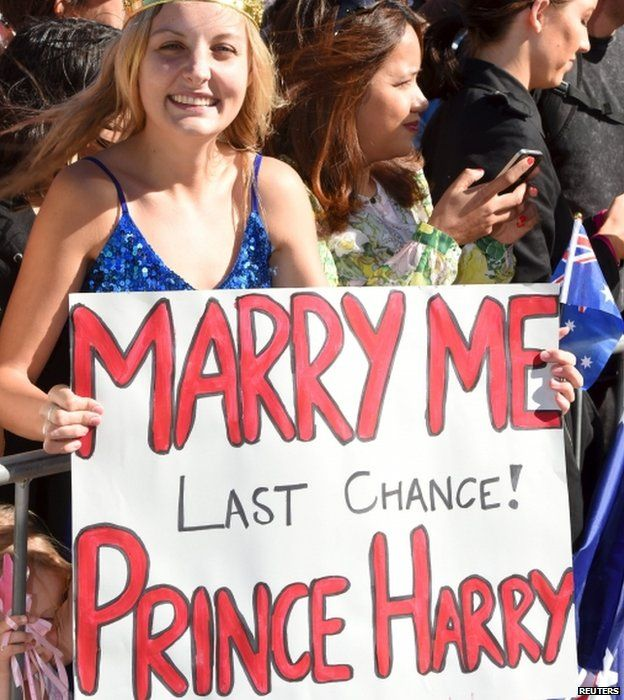 Prince Harry Receives Marriage Proposal During Aussie Farewell Bbc