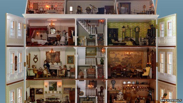dolls house interior. The Best House  open Doll house collection moves to potting sheds at Newby Hall BBC News