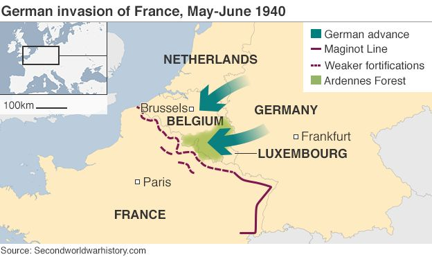The ww2 soldiers france has forgotten bbc news grey line 2 pixels map showing the german invasion of france may june 1940 gumiabroncs Gallery