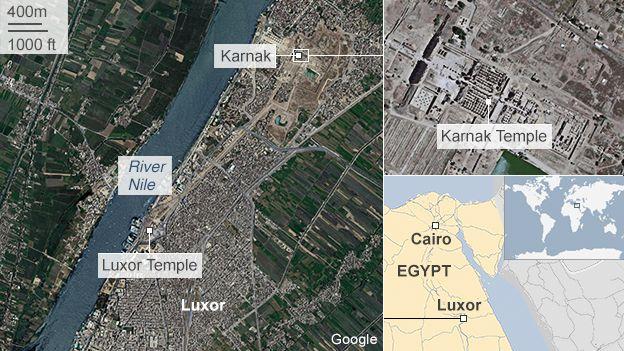 Suicide Attack Outside Karnak Temple In Egypts Luxor BBC News - Map of egypt karnak