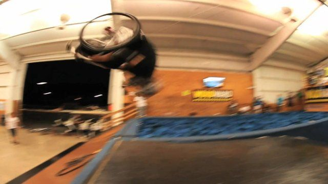 First double back flip in wheelchair
