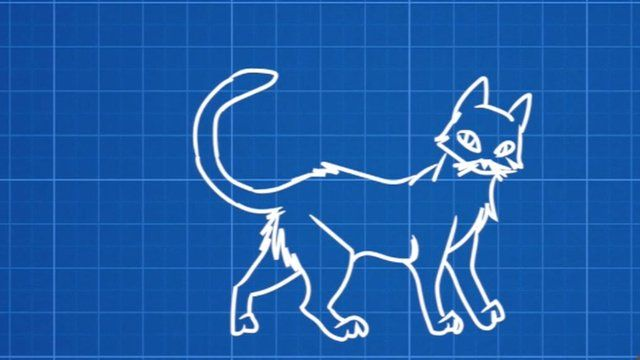 An illustration of a cat