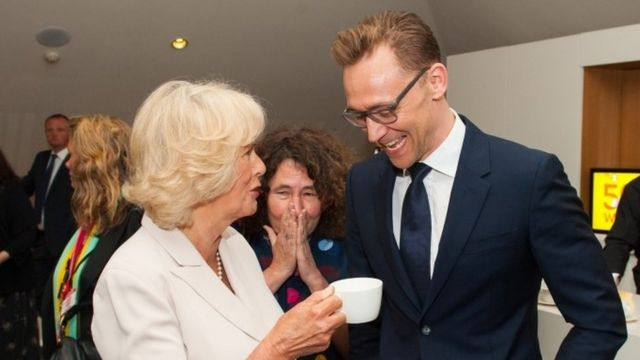The Duchess of Cornwall and Tom Hiddleston