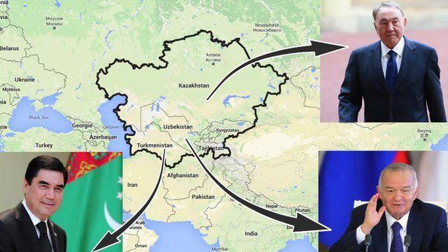 Tajikistan map and powerful regional figures