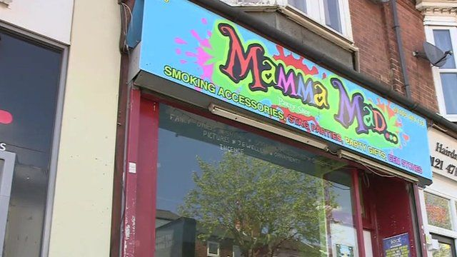 A shop which has been selling legal highs