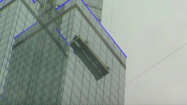 Window washer scaffold