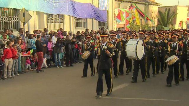 Celebration parade in Eritrea
