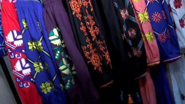 Ukrainian traditional embroidered clothes