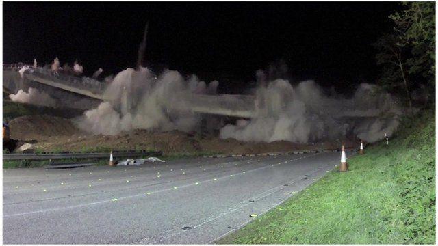 Bridge demolished