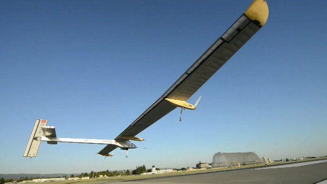 The Solar Impulse 2 taking off