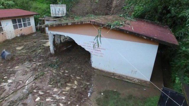 Mexico flood damage