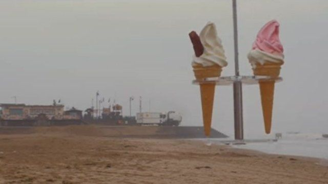 Ice creams being delivered by drone