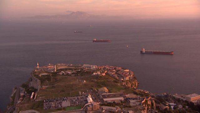 The coast of Gibraltar