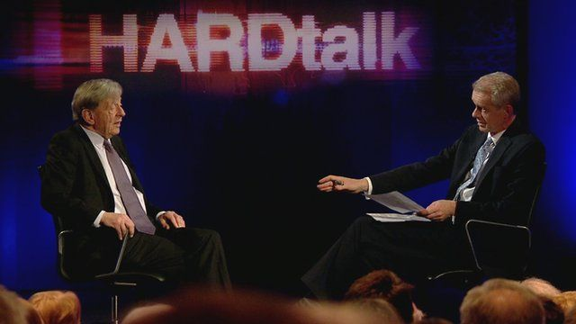 Still image from BBC HARDtalk special to mark the BBC's World on the Move day