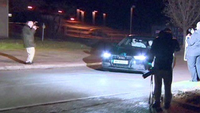 Sgt Alexander Blackman leaving Erlestoke Prison in Wiltshire