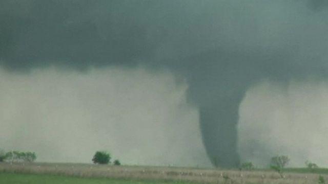 A tornado near Oklahoma City, Oklahoma.