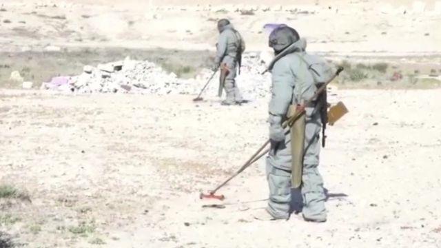 Palmyra mine clearance