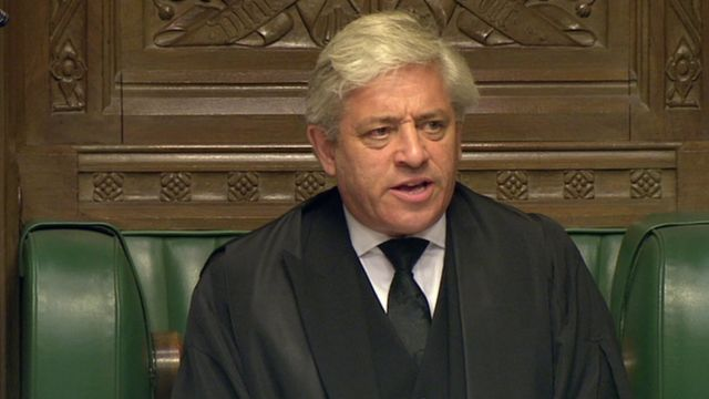 John Bercow, speaker of the House of Commons.