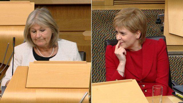 Margaret Mitchell and Nicola Sturgeon