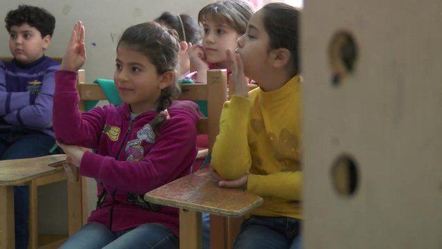 Syrian children in Egypt
