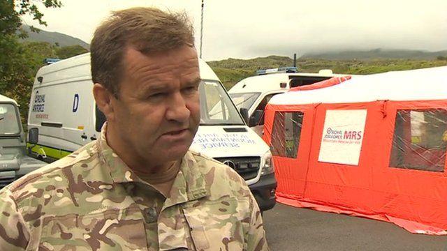 Post-crash management incident officer, Sqn Ldr John King, of RAF Valley
