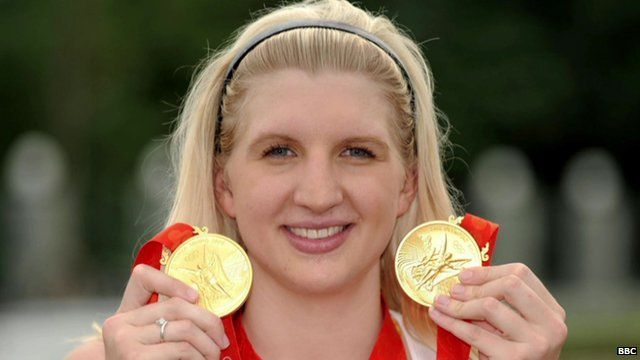 Olympic swimming champion Rebecca Adlington