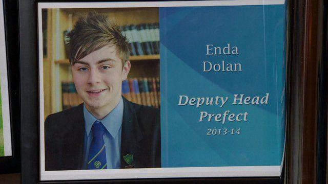 A photograph of Enda Dolan in his school uniform