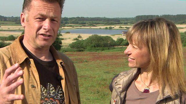 Chris Packham and Michaela Strachan from Springwatch
