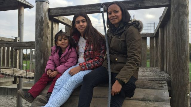 Leah with Romina and her sister