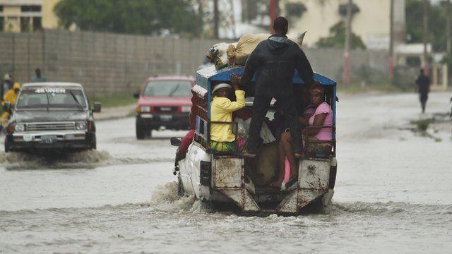 BBC reporter Nick Bryant in Haiti