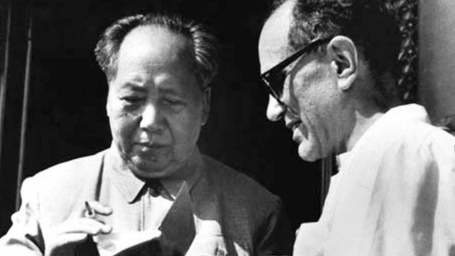 Mao Zedong and Sidney Rittenberg