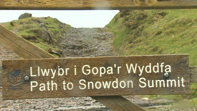 Snowdon path sign