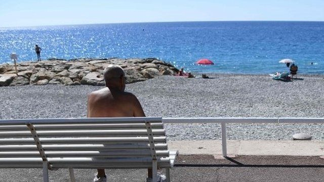 Sea front in Nice