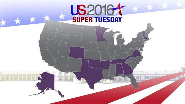 US Election Katty Kays Guide To Super Tuesday BBC News - Bbc election map us