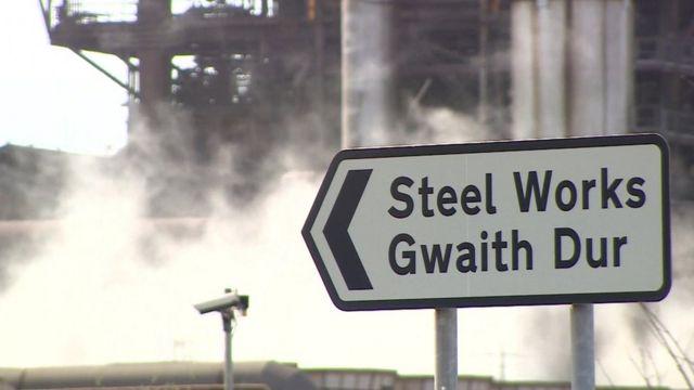 Steel works sign