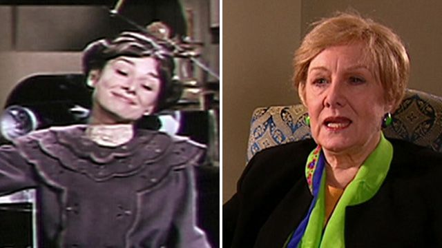 Audrey Hepburn (left) in My Fair Lady and Marni Nixon in 2001 (right)