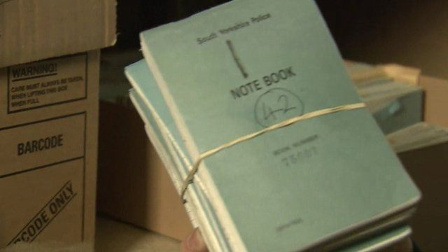 South Yorkshire Police notebooks