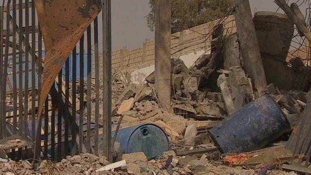 Ruins in Shaddadi, Syria.