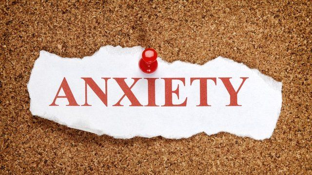 sign saying anxiety