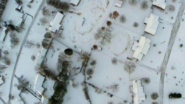 Still of footage of snow