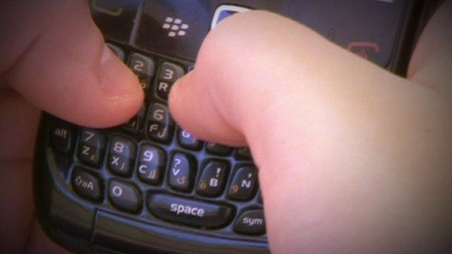 Text message being typed on phone