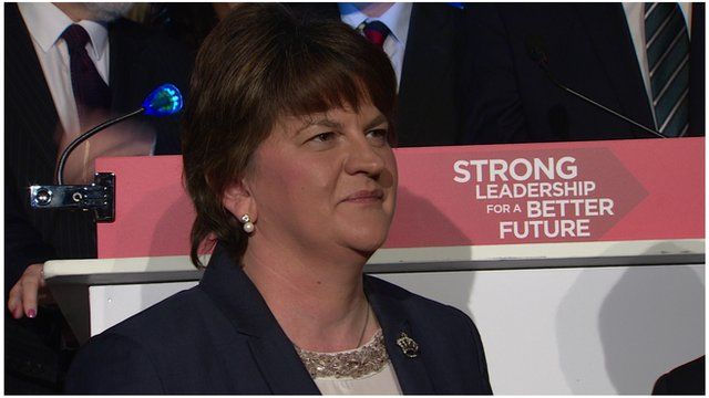 """Arlene Foster said she wanted to implement the party's plan """"as first minister on the morning of 6 May"""""""