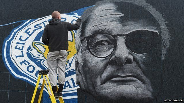 Ranieri graffiti as part of the 'Backing the Blues' campaign