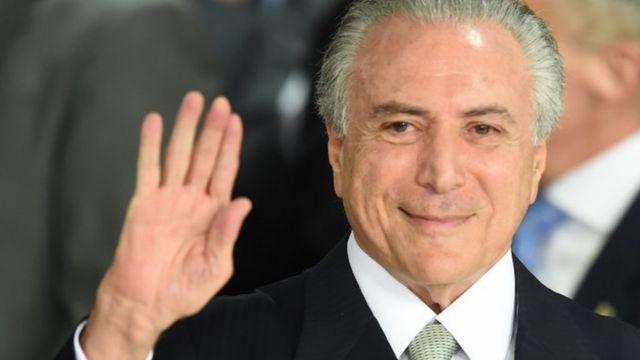 Acting Brazil President Michel Temer